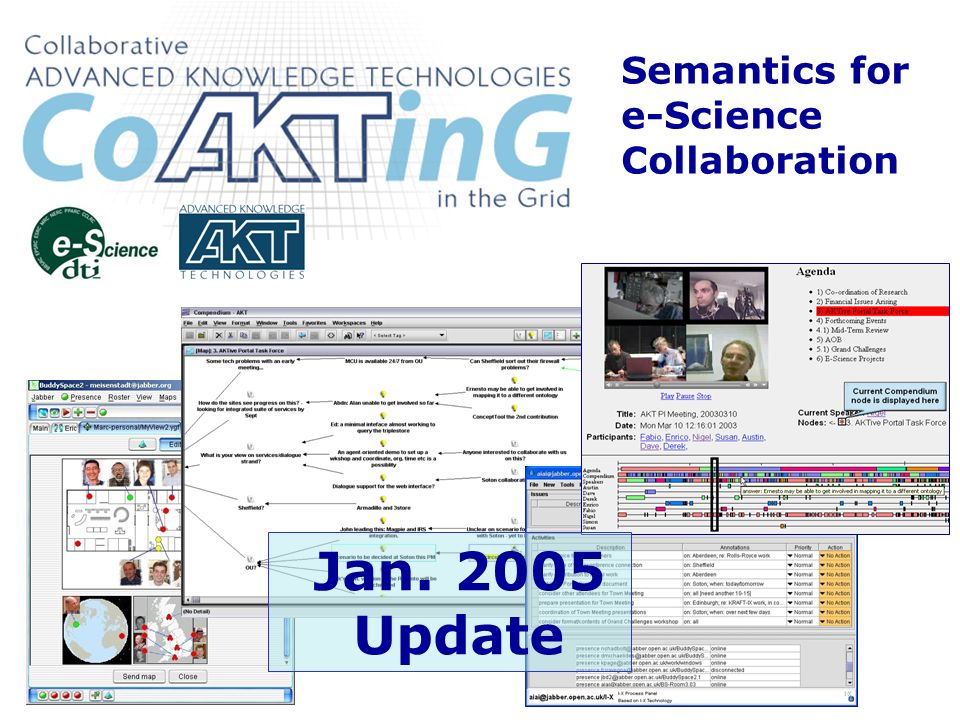 Semantics for e-Science Collaboration Jan. 2005 Update