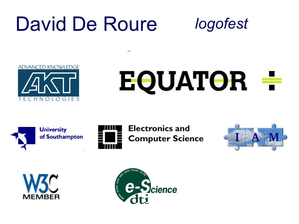David De Roure Dave in Hawaii logofest