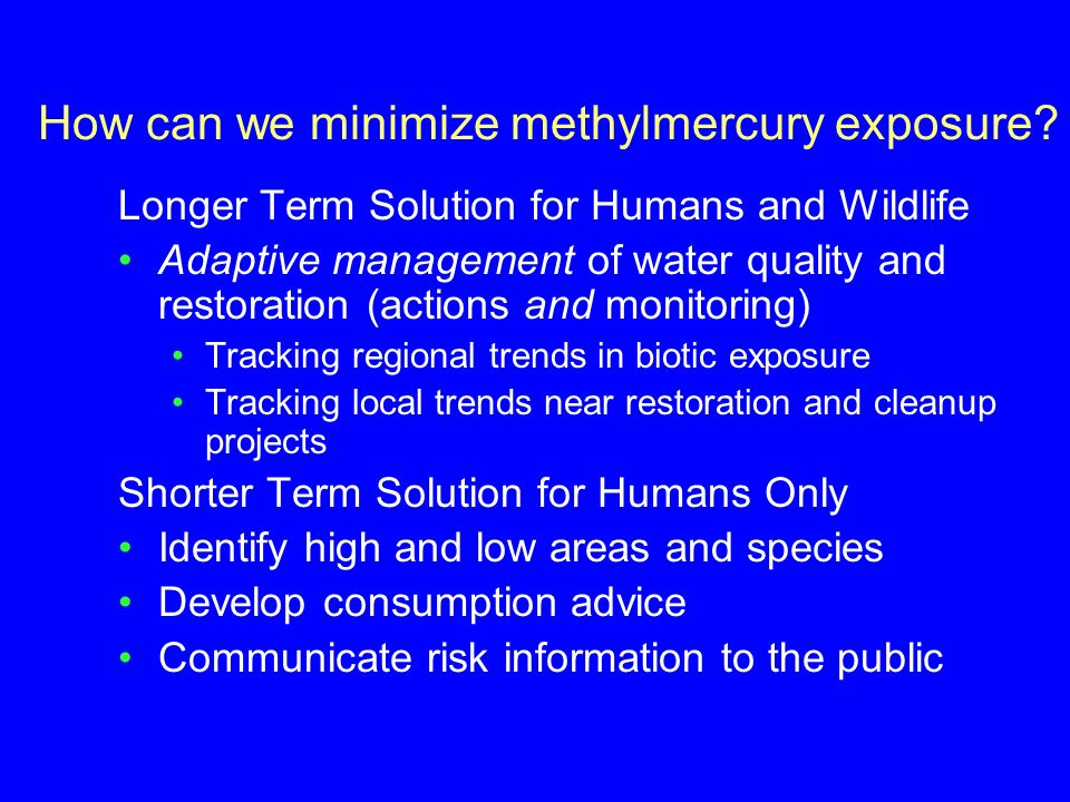 How can we minimize methylmercury exposure.