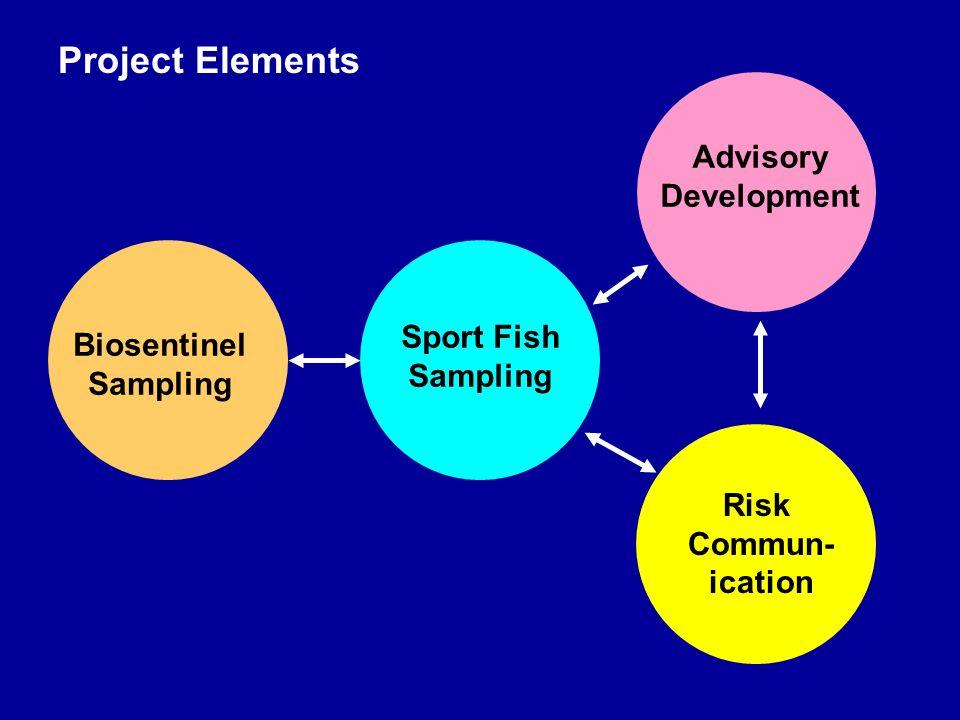 Risk Commun- ication Advisory Development Biosentinel Sampling Sport Fish Sampling Project Elements
