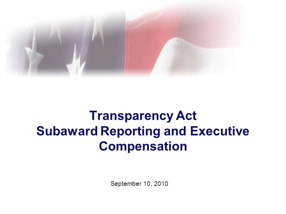 Agenda Transparency Act background What new reporting is required.