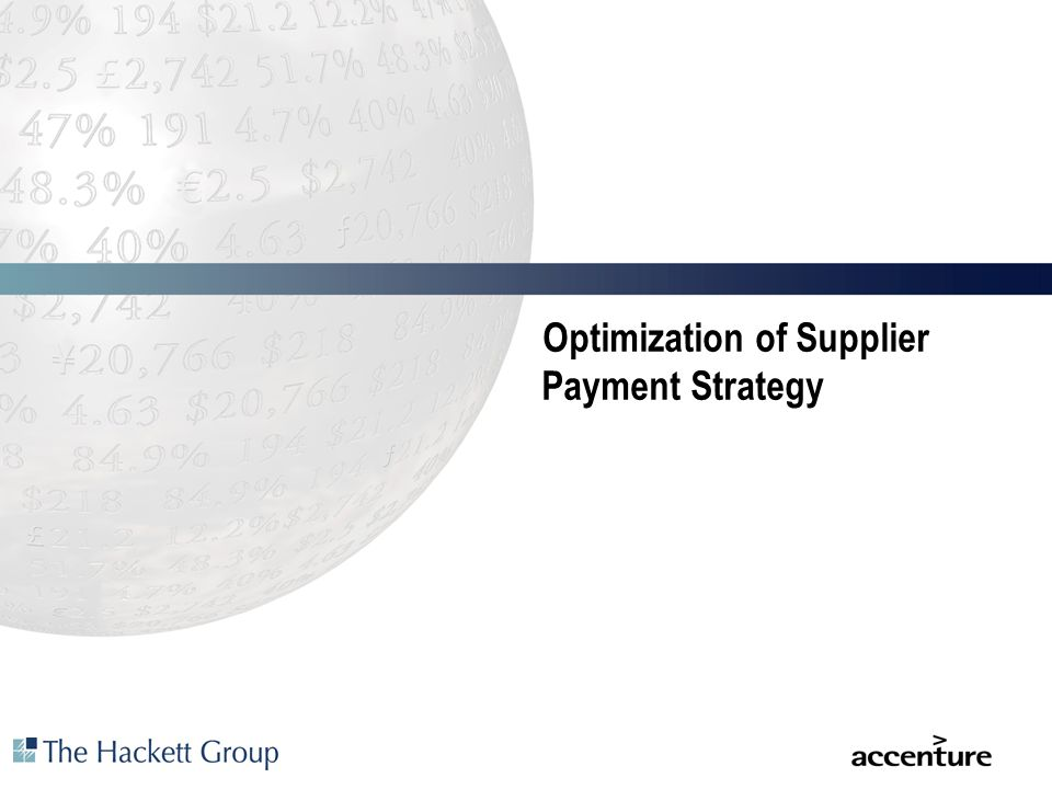 Optimization of Supplier Payment Strategy
