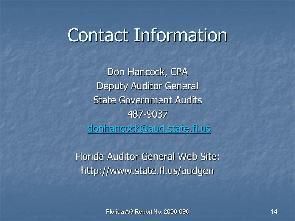 Florida AG Report No.