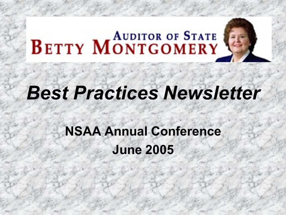 Best Practices Newsletter NSAA Annual Conference June 2005