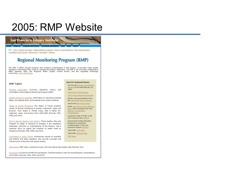 2005: RMP Website