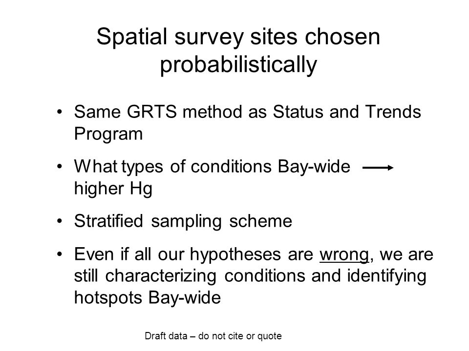 Draft data - do not cite or quote How separating different site types.