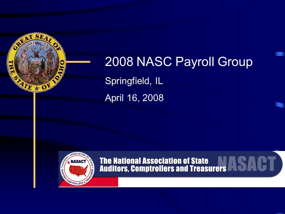 2008 NASC Payroll Group Springfield, IL April 16, 2008
