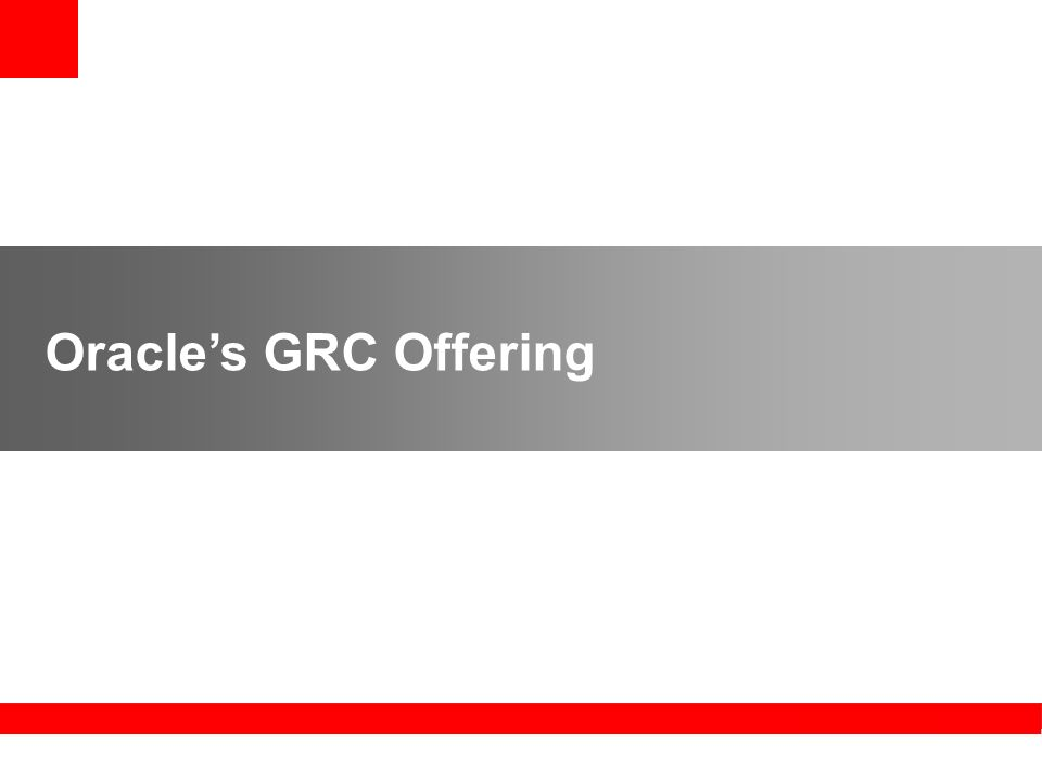 Oracles GRC Offering