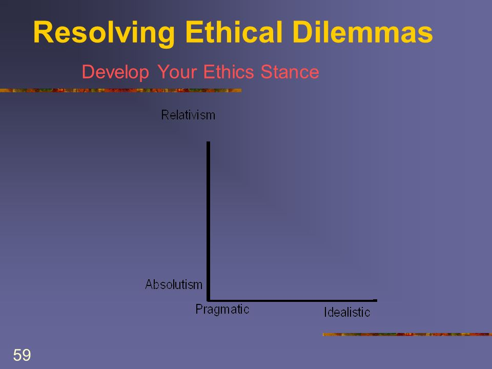 59 Resolving Ethical Dilemmas Develop Your Ethics Stance