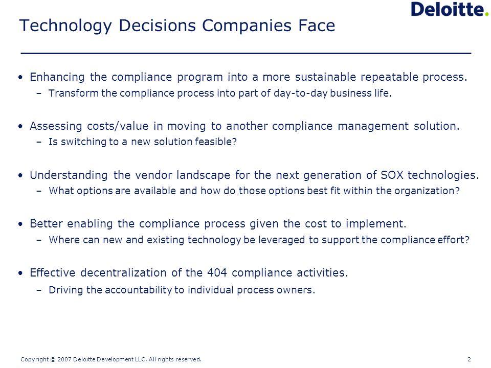Copyright © 2007 Deloitte Development LLC.