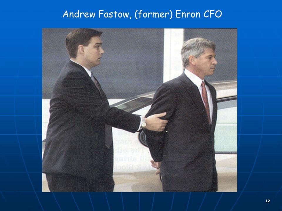 12 Andrew Fastow, (former) Enron CFO
