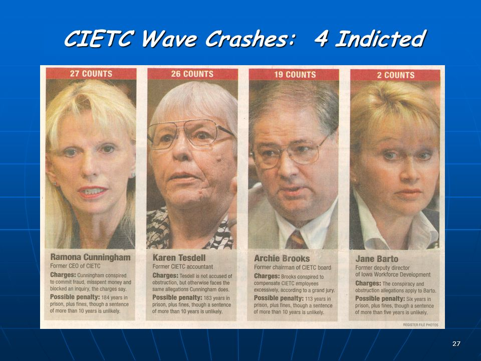 27 CIETC Wave Crashes: 4 Indicted