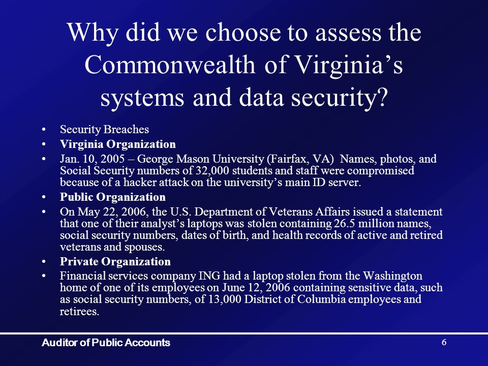 Auditor of Public Accounts 27 How did APA evaluate the data.