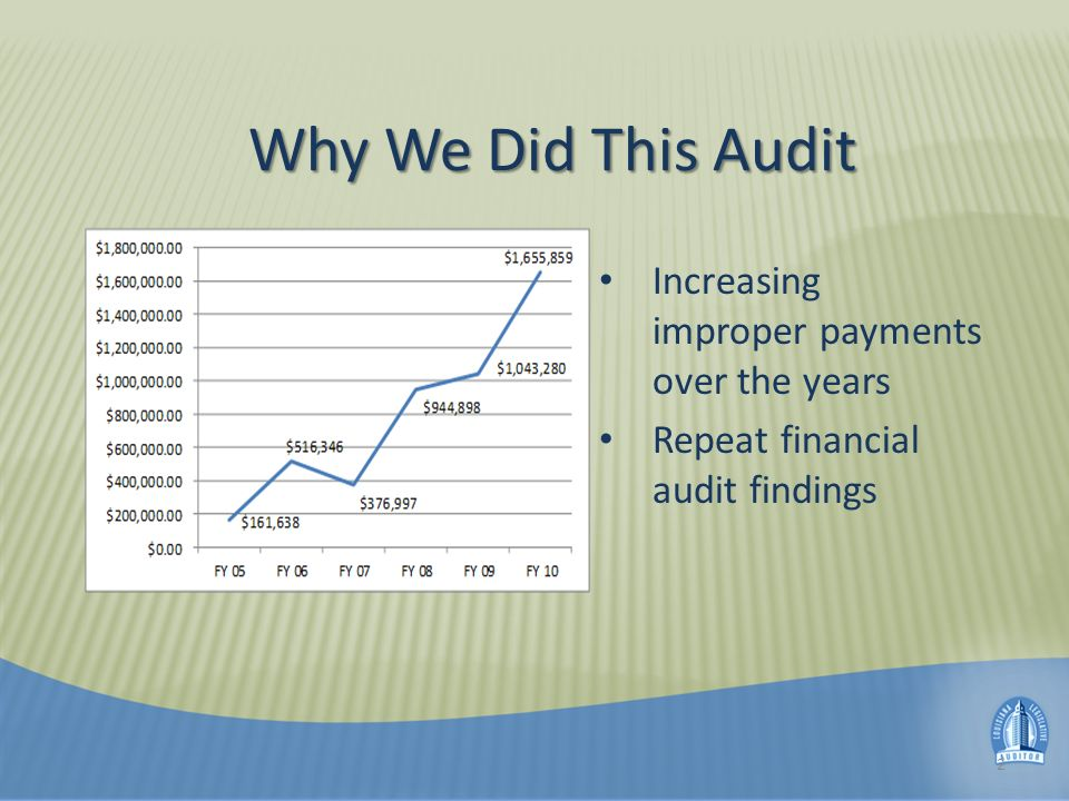 Why We Did This Audit (cont) Increasing costs in Long- term Personal Care Services Program – Population rose from 3,000 in FY 2005 to FY 14,000 in FY 2009 Vulnerability of populations in these programs 3