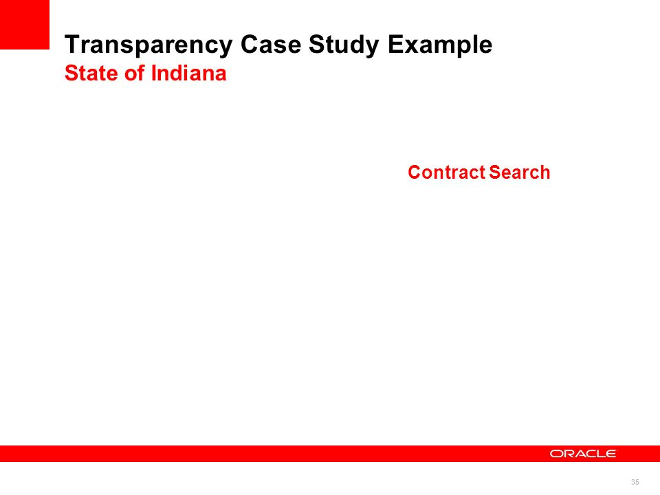 35 Transparency Case Study Example State of Indiana Contract Search