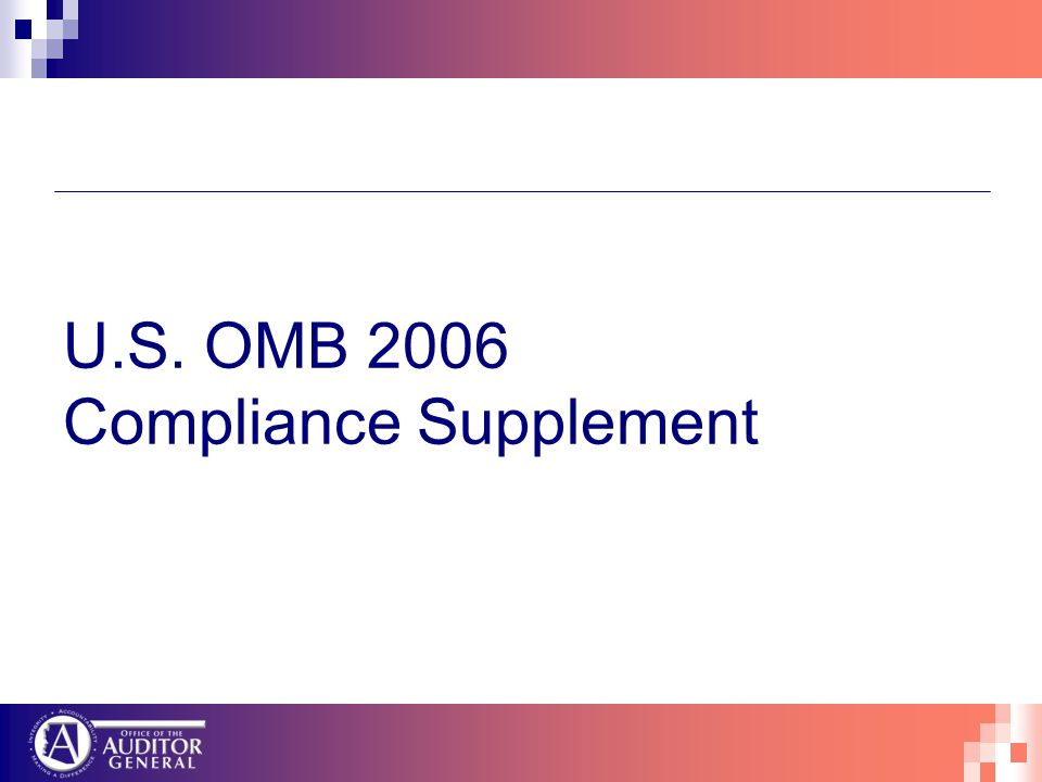 U.S. OMB 2006 Compliance Supplement