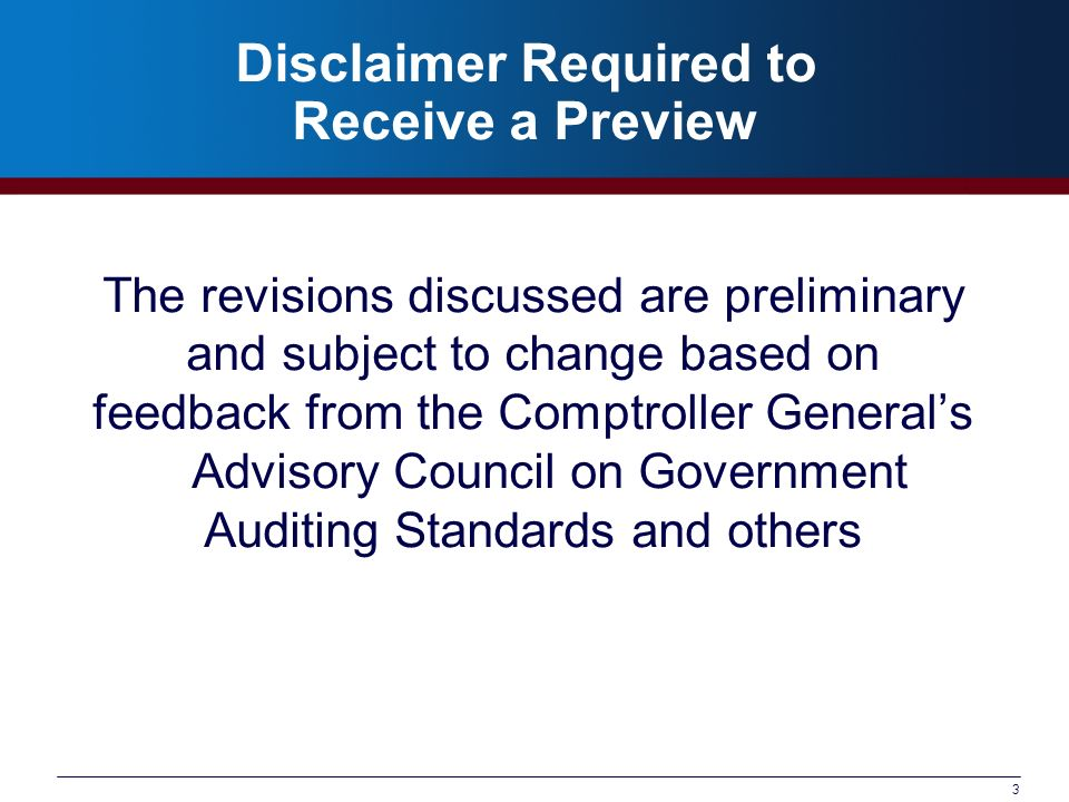 64 2011 Yellow Book Projected Dates June 2010: Issue Exposure Draft of 2011 Revision of GAGAS September 2010: Comments due on Exposure Draft January – February 2011: Issue 2011 Revision of GAGAS AICPA proposed date of clarified standards is December 15, 2011: GAO staff will propose an effective date based on final AICPA date