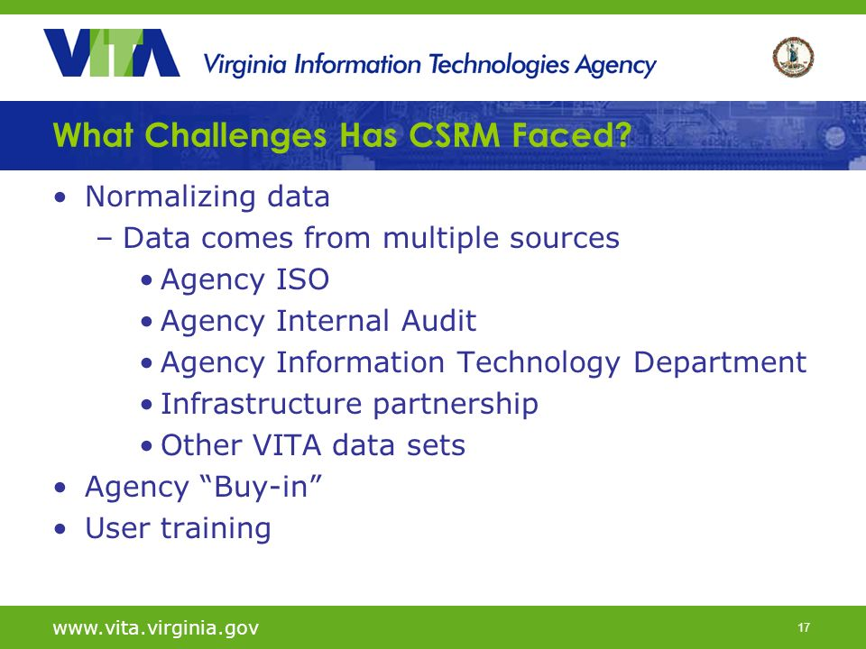 17 What Challenges Has CSRM Faced.