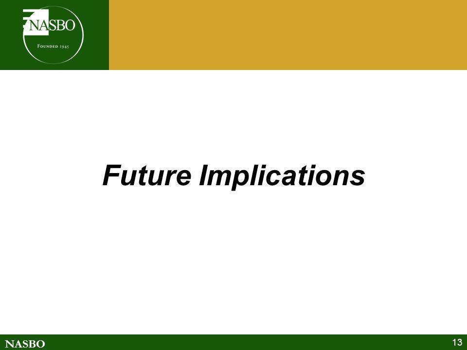 NASBO 13 Future Implications