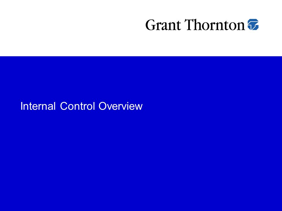 Internal Control Overview