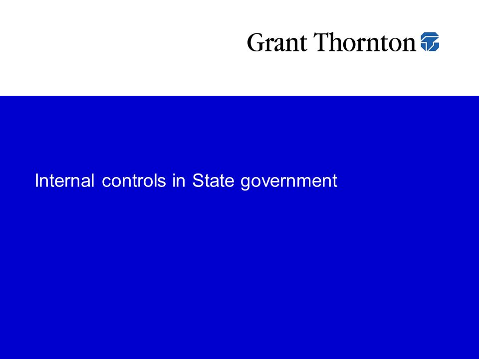 Internal controls in State government