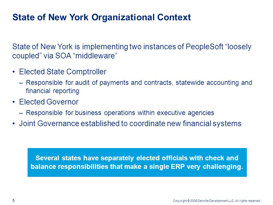 The Case For System Integration Joan Sullivan Executive Deputy Comptroller for Operations New York State Office of the State Comptroller