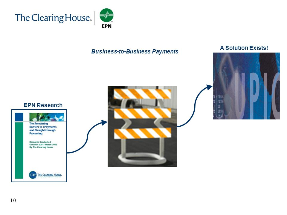 10 Business-to-Business Payments A Solution Exists! EPN Research