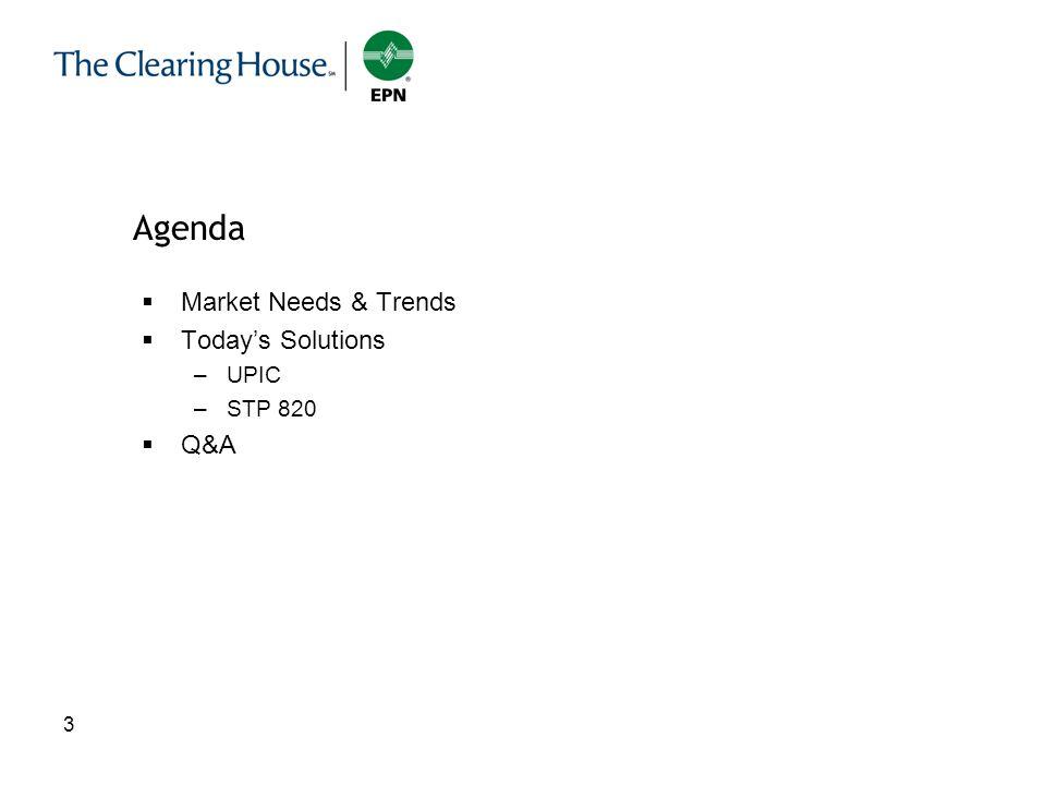 3 3 Market Needs & Trends Todays Solutions –UPIC –STP 820 Q&A Agenda