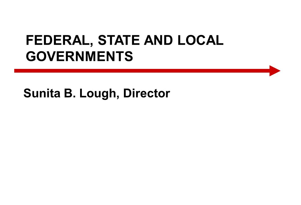 FEDERAL, STATE AND LOCAL GOVERNMENTS Sunita B. Lough, Director