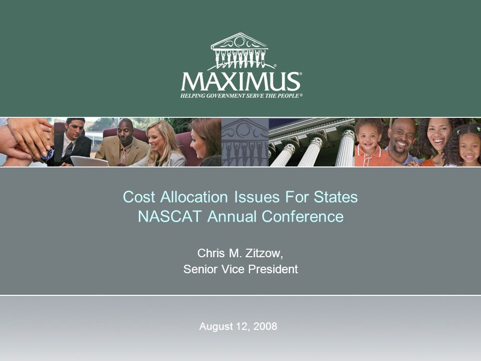 Cost Allocation Issues For States NASCAT Annual Conference Chris M.