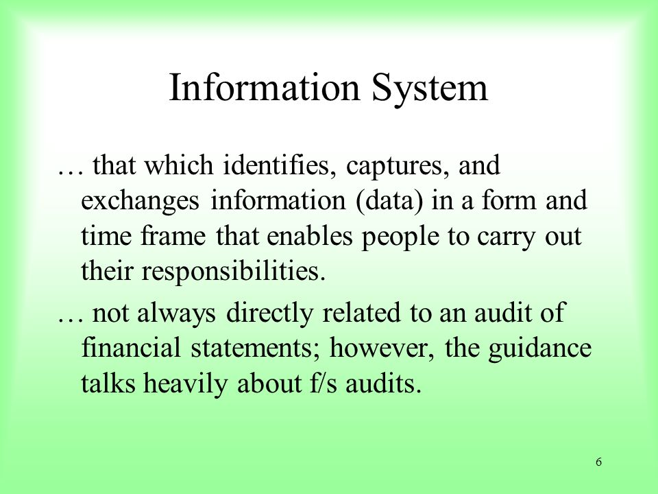 7 For this presentation … Think of relevance of service organizations effects NOT ONLY on the financial statements BUT…………..ALSO Audit Objective(s) On the Audit Objective(s) !