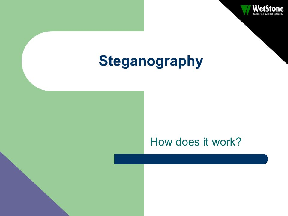 Steganography How does it work?