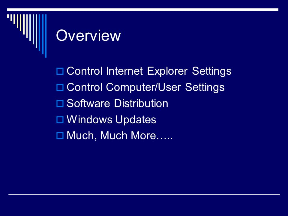 Getting Started Windows 2003 Active Directory Group Policy Manager Plug-in