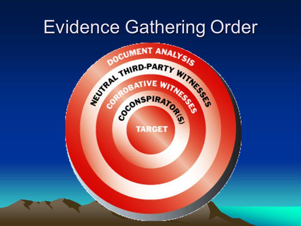 Evidence Gathering Order