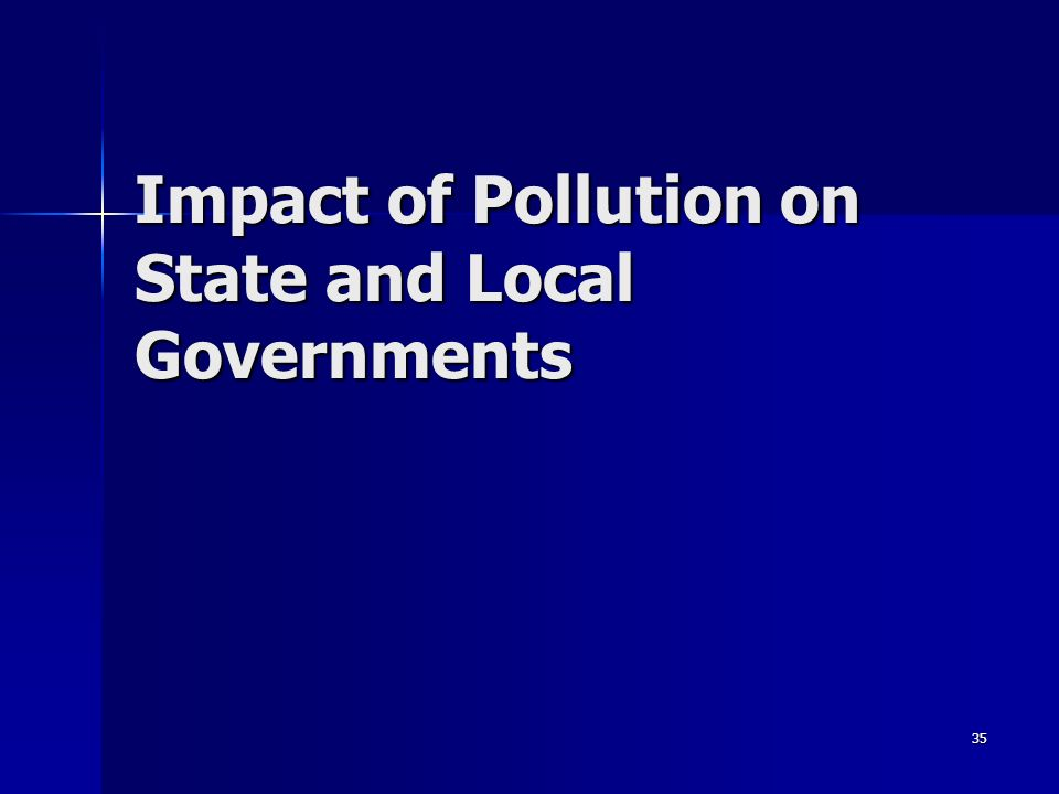 35 Impact of Pollution on State and Local Governments