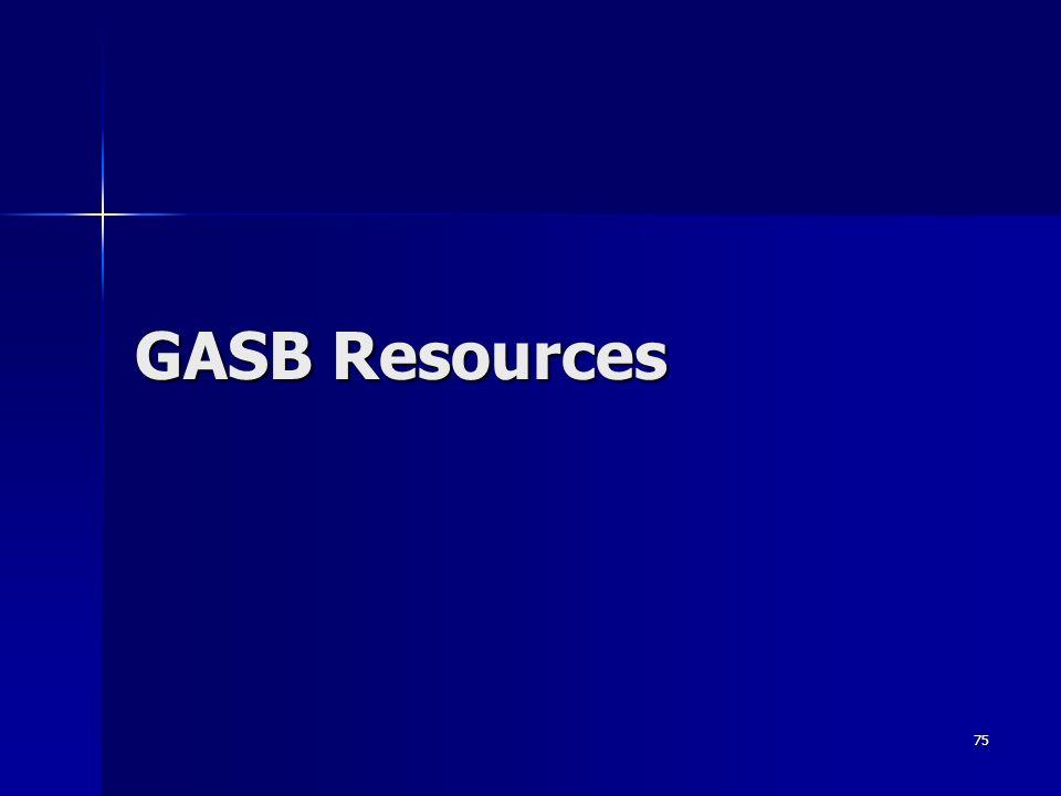 75 GASB Resources