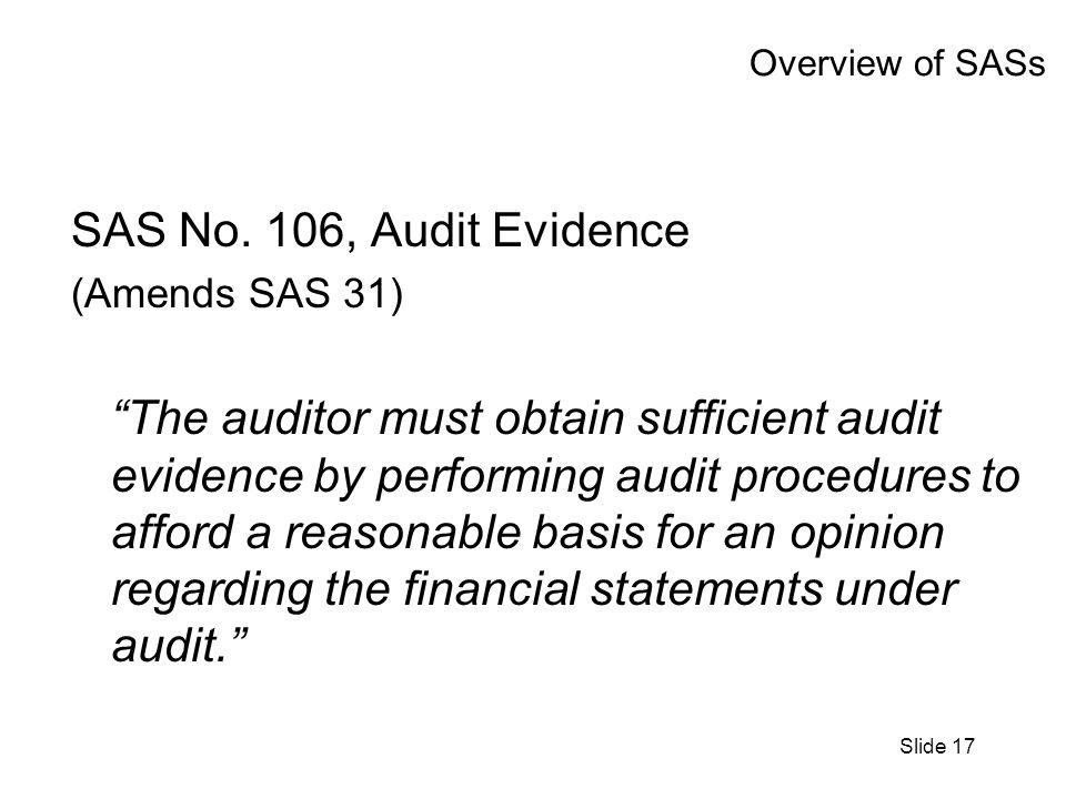 Slide 17 Overview of SASs SAS No.