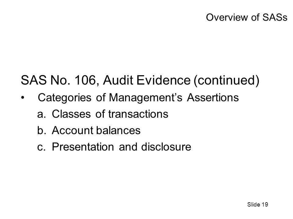 Slide 19 Overview of SASs SAS No.