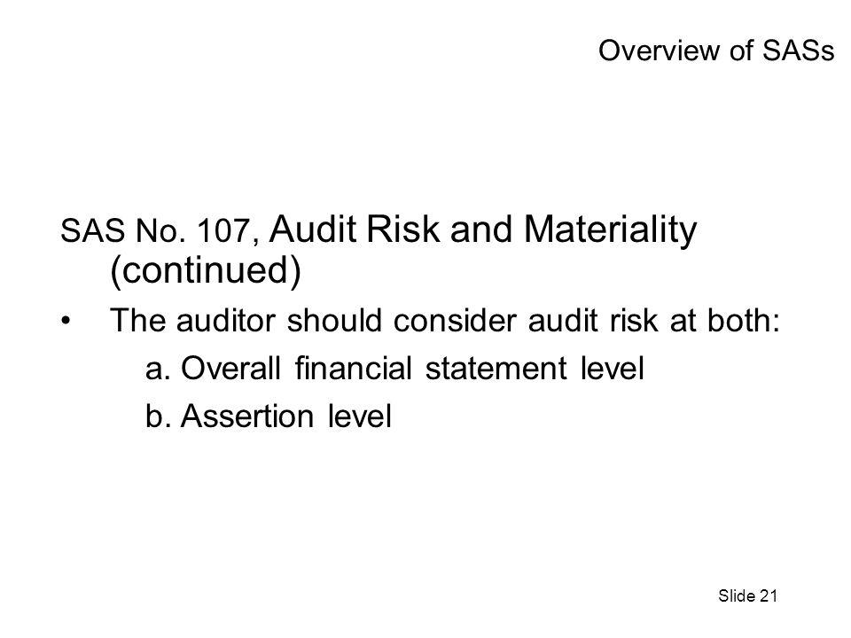 Slide 21 Overview of SASs SAS No.