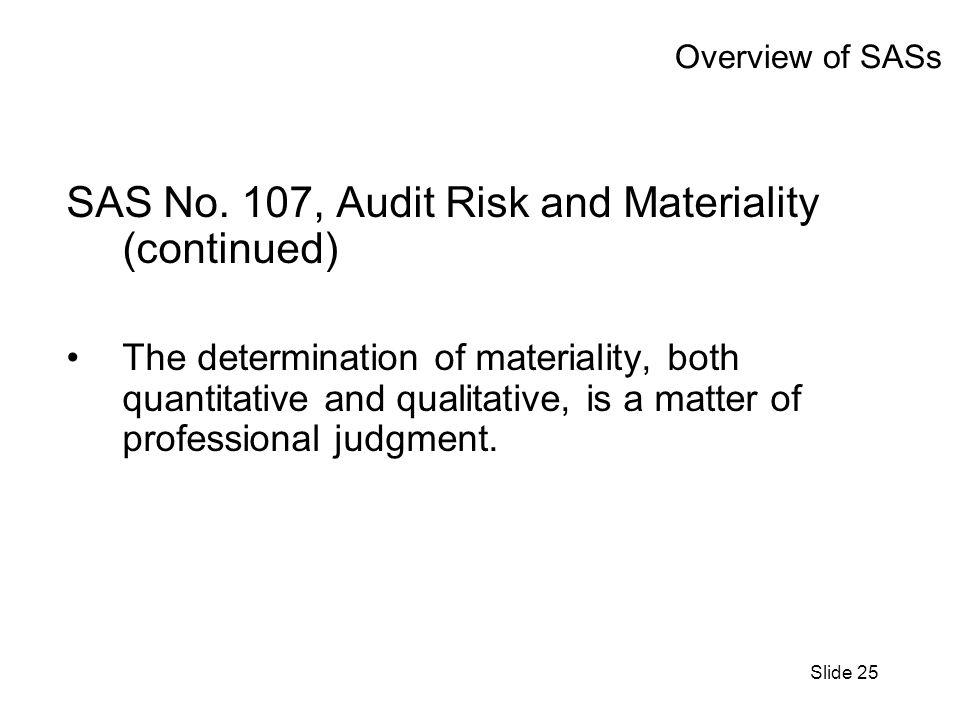 Slide 25 Overview of SASs SAS No.