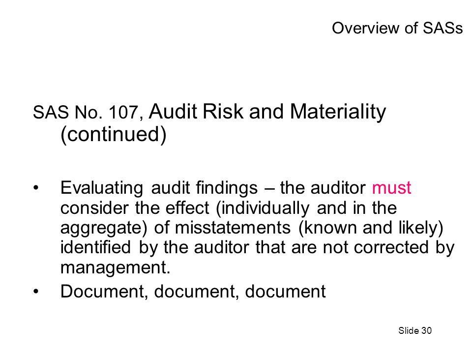 Slide 30 Overview of SASs SAS No.