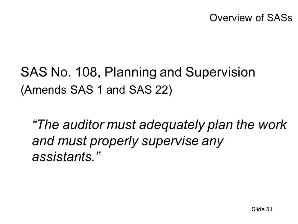 Slide 31 Overview of SASs SAS No.