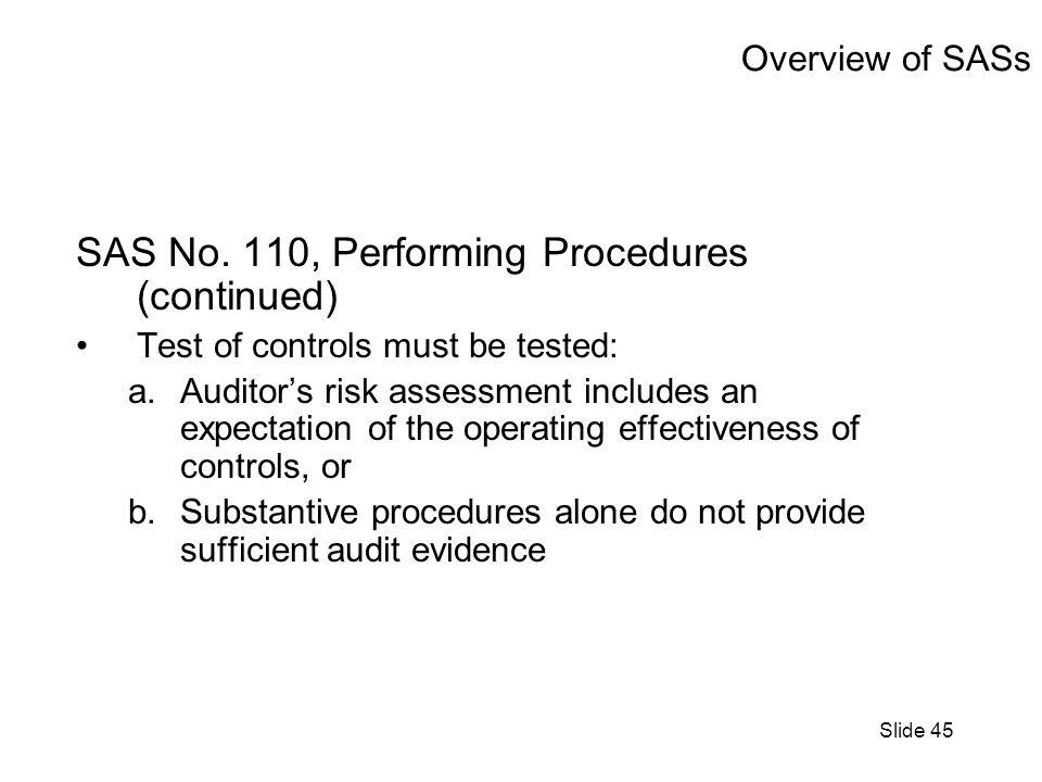 Slide 45 Overview of SASs SAS No.