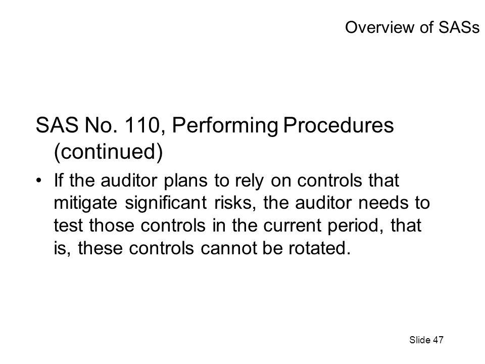 Slide 47 Overview of SASs SAS No.
