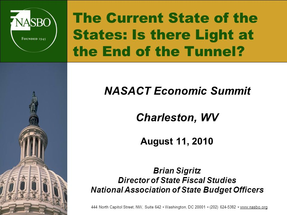 The Current State of the States: Is there Light at the End of the Tunnel.