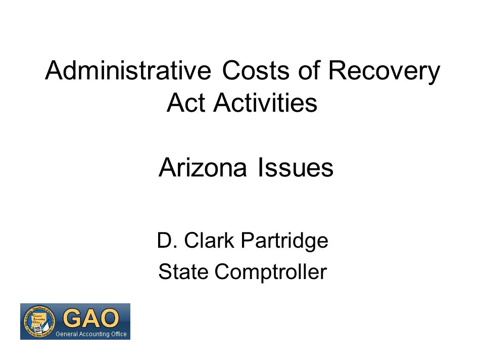 American Recovery and Reinvestment Act (ARRA) Purposes Recovery Accountability Transparency