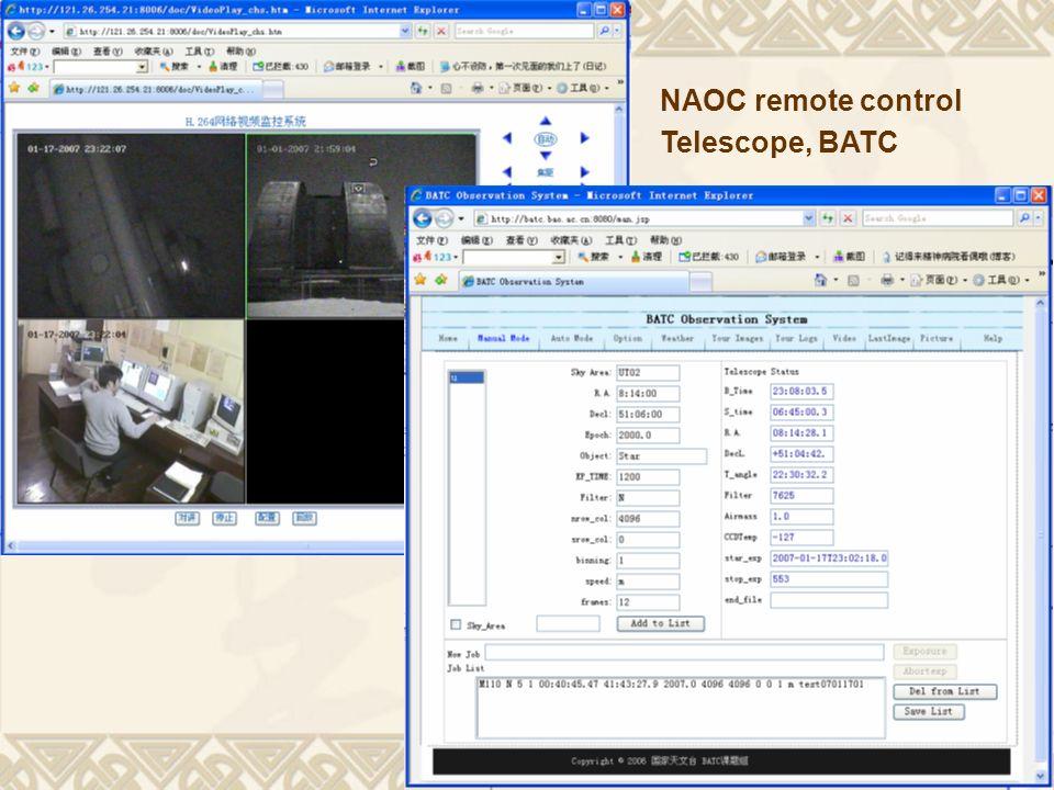 8 NAOC remote control Telescope, BATC