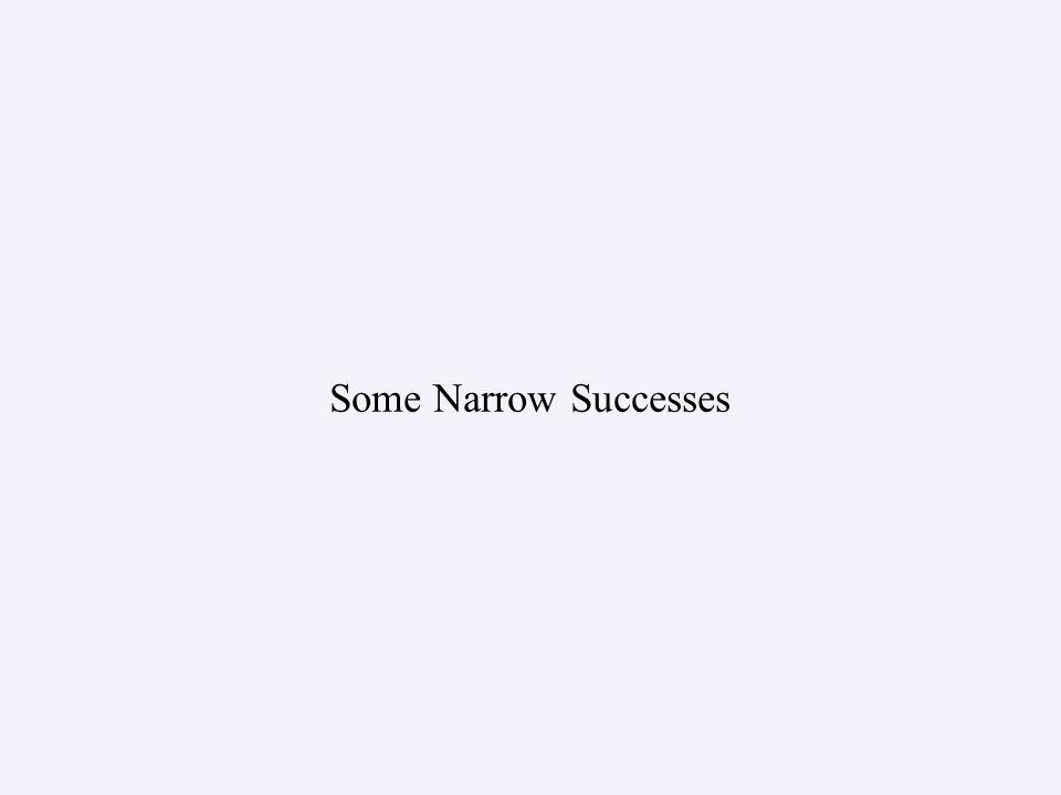 Some Narrow Successes