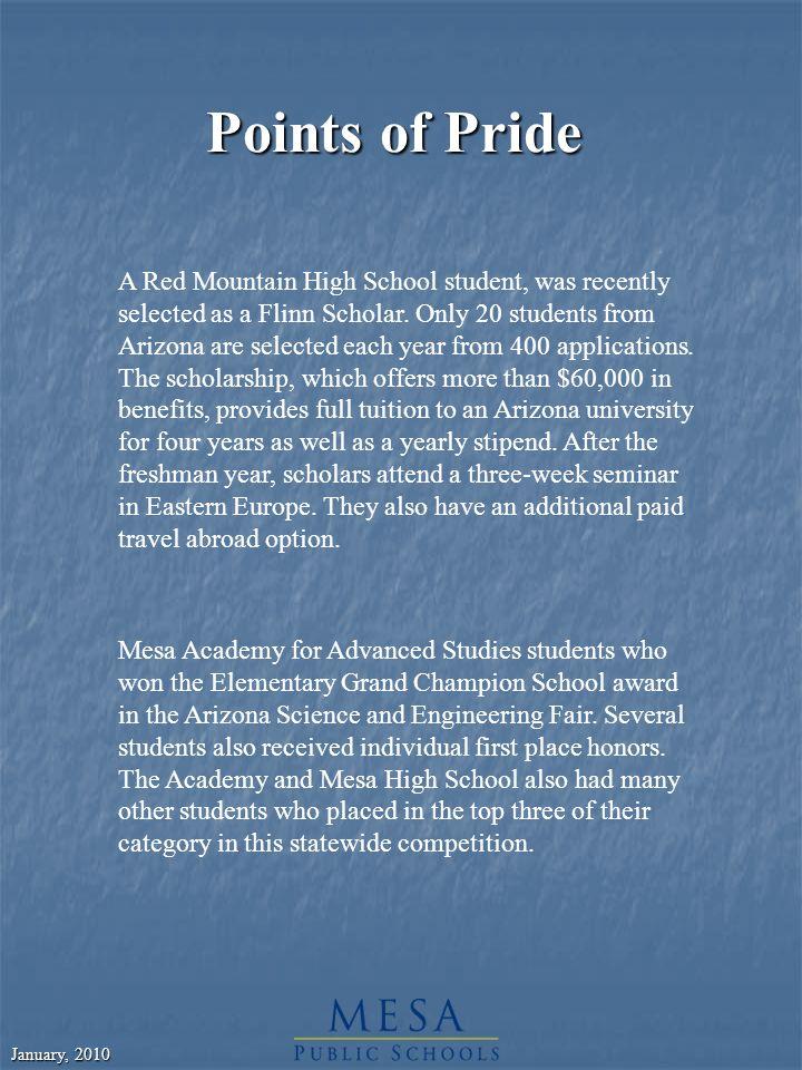 January, 2010 Mesa Union High School District #207 Established December 26, 1907 Elementary Feeder Districts: Lehi Jordan Alma Mesa Nephi Highland