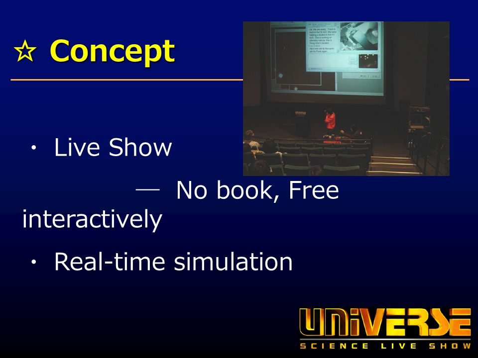 Concept Concept Live Show No book, Free interactively Real-time simulation